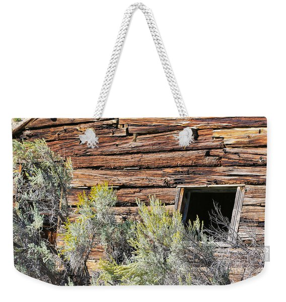 Weekender Tote Bag featuring the photograph Abandoned Shack by Susan Leonard
