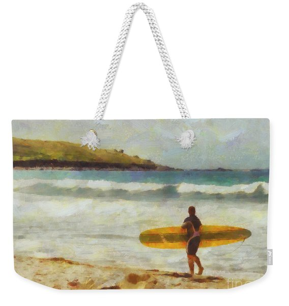 About To Surf Weekender Tote Bag