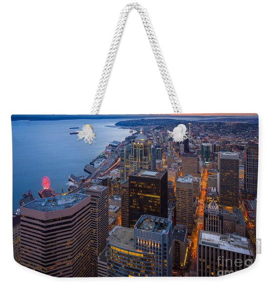 Above Seattle Weekender Tote Bag