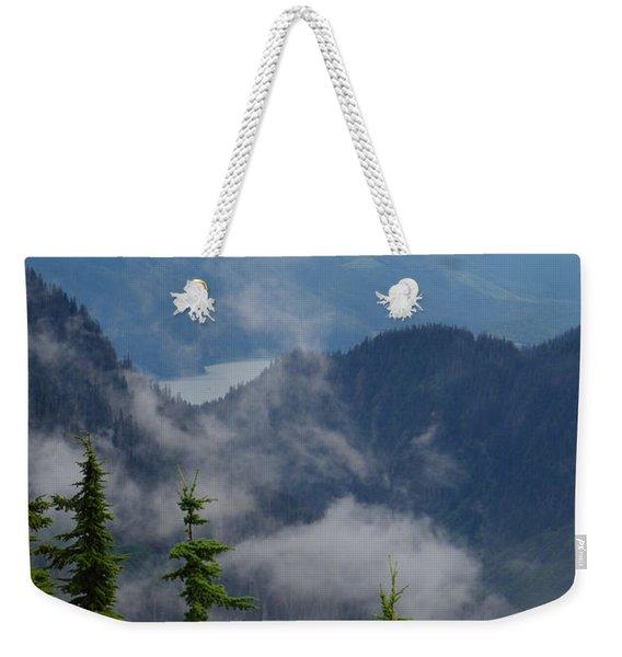 Above The Cloud Weekender Tote Bag