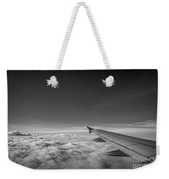 Above The Clouds Bw Weekender Tote Bag