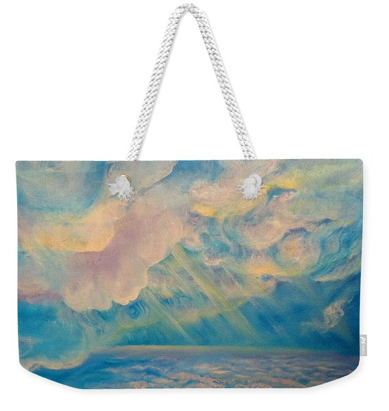 Above The Sun Splashed Clouds Weekender Tote Bag