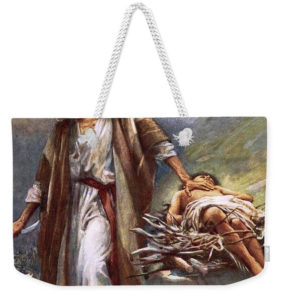 Abraham And Isaac Weekender Tote Bag