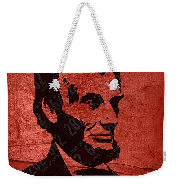 Abraham Lincoln License Plate Art Weekender Tote Bag