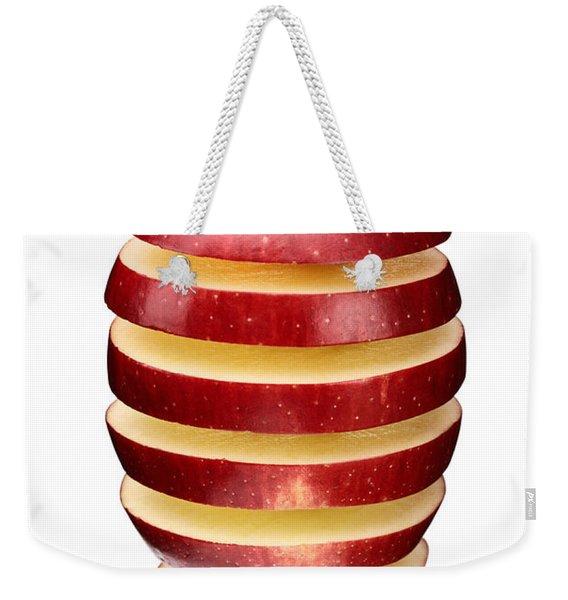 Abstract Apple Slices Weekender Tote Bag