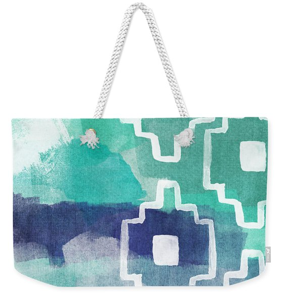 Abstract Aztec- Contemporary Abstract Painting Weekender Tote Bag