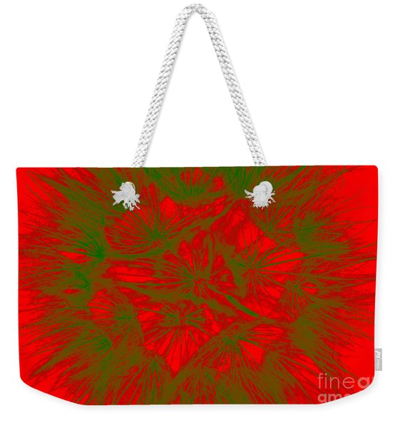 Weekender Tote Bag featuring the photograph Abstract Dandelion Bloom by Mae Wertz
