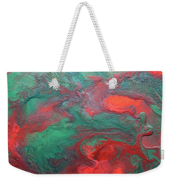Abstract Evergreen Weekender Tote Bag
