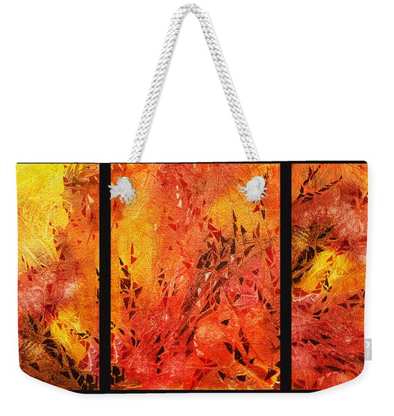Abstract Fireplace Weekender Tote Bag