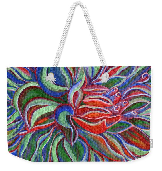 Abstract Flower Weekender Tote Bag