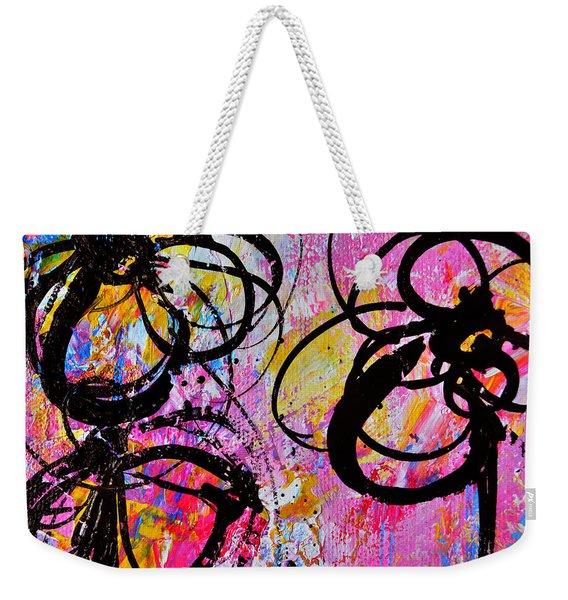 Abstract Flowers Silhouette 7 Weekender Tote Bag