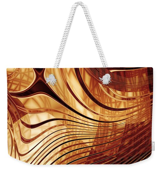 Abstract Gold 2 Weekender Tote Bag