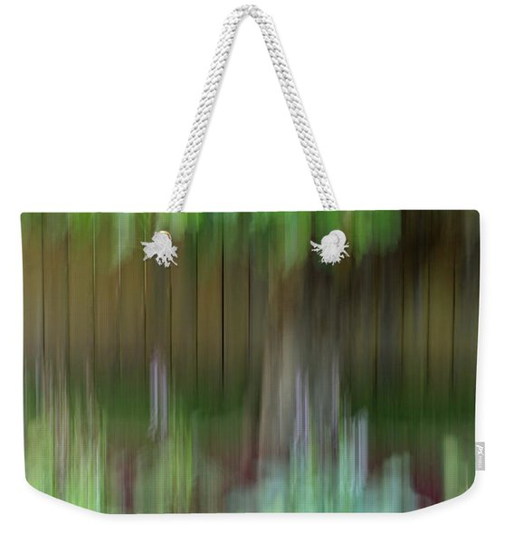 Abstract In Green Weekender Tote Bag