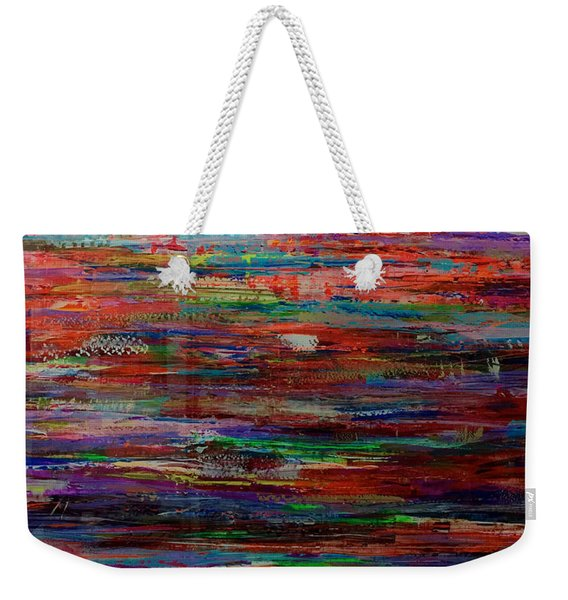 Abstract In Reflection Weekender Tote Bag