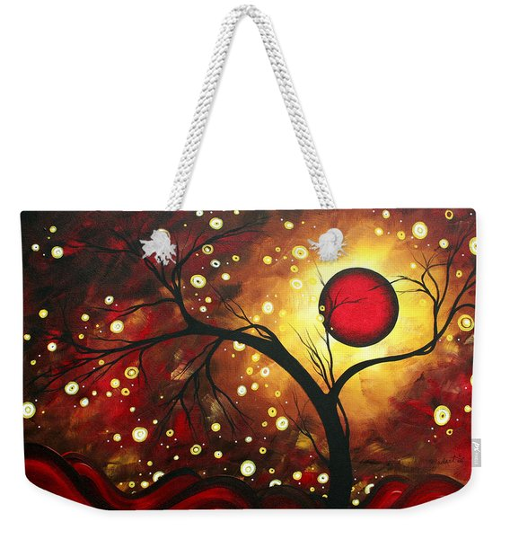 Abstract Landscape Glowing Orb By Madart Weekender Tote Bag