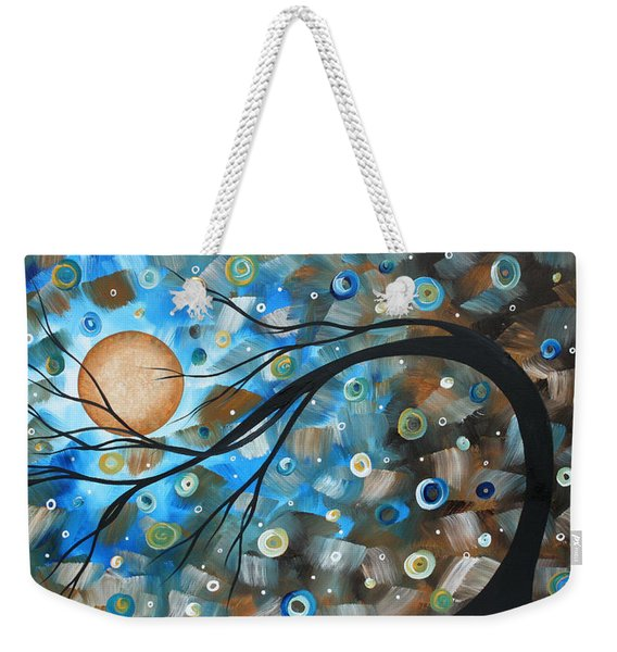 Abstract Original Landscape Art In A Trance Art By Madart Weekender Tote Bag