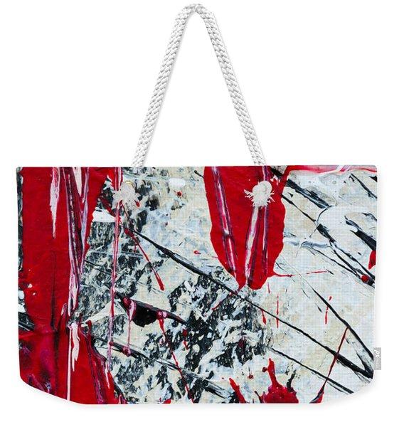 Abstract Original Painting Untitled Nine Weekender Tote Bag