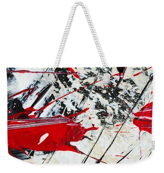 Abstract Original Painting Untitled Ten Weekender Tote Bag