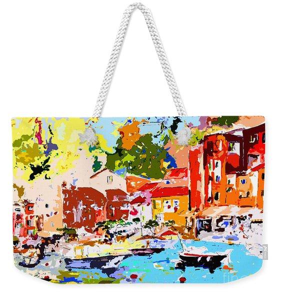 Abstract Portofino Italy Decorative Art Weekender Tote Bag