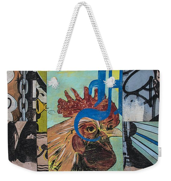 Abstract Rooster Panel Weekender Tote Bag