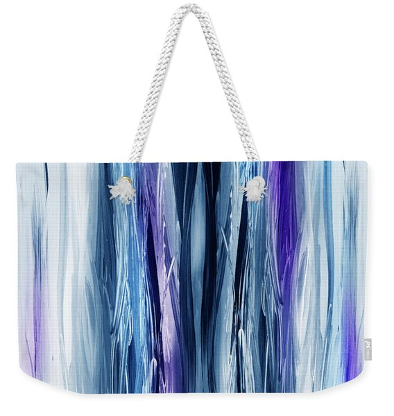 Abstract Waterfall Purple Flow Weekender Tote Bag