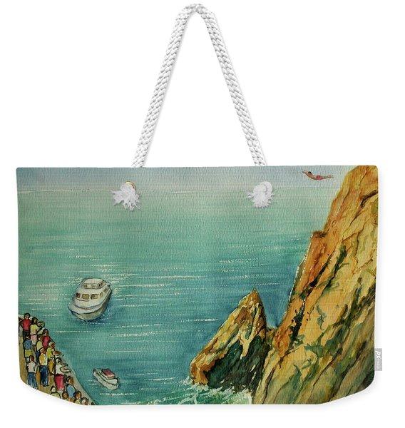 Acapulco Cliff Diver Weekender Tote Bag