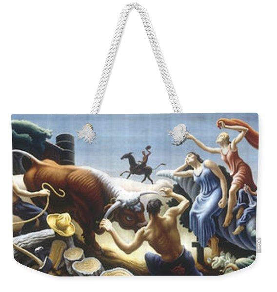 Achelous And Hercules Weekender Tote Bag