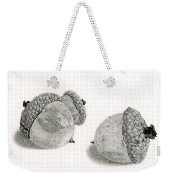Acorns- Black And White Weekender Tote Bag