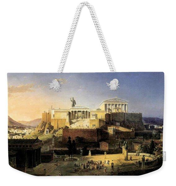 Acropolis Of Athens Weekender Tote Bag