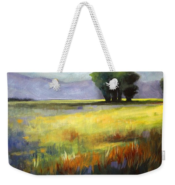 Across The Field Weekender Tote Bag