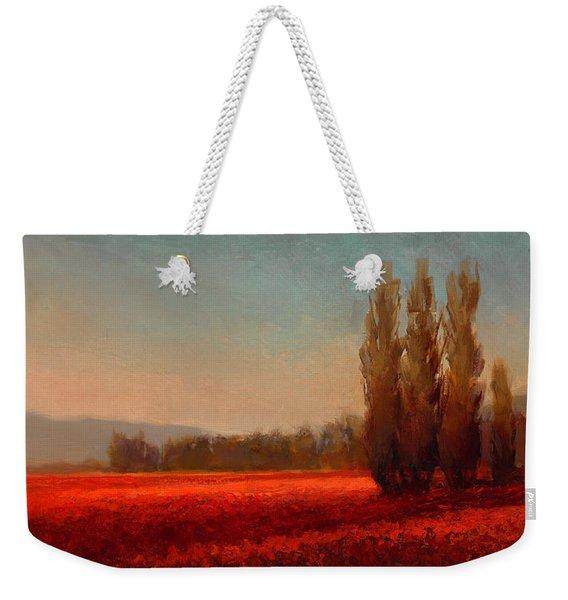 Across The Tulip Field - Horizontal Landscape Weekender Tote Bag