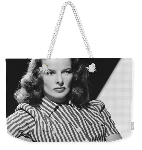 Actress Katharine Hepburn Weekender Tote Bag