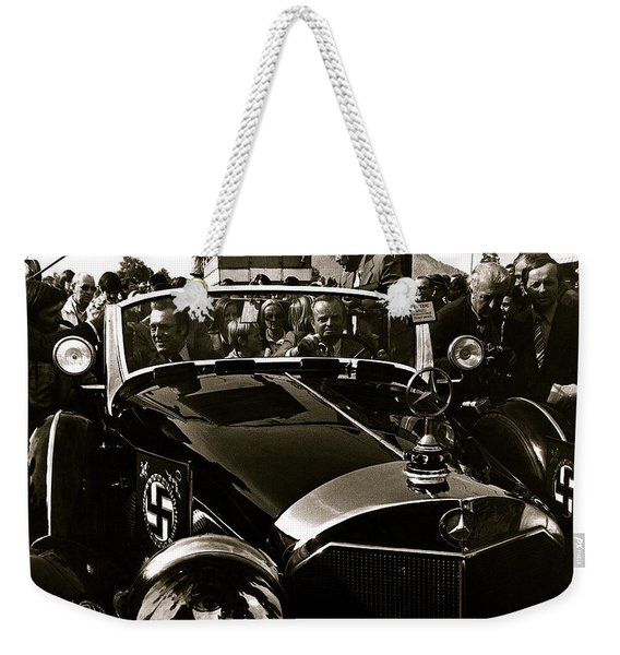 Adolf Hitler's 1941 Mercedes-benz 770-k Touring Car Sold At Auction Scottsdale Arizona 1973 Weekender Tote Bag
