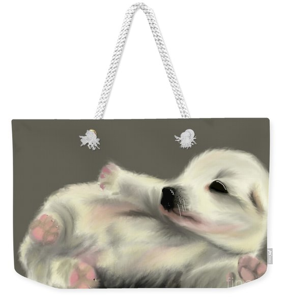 Adorable Pup Weekender Tote Bag