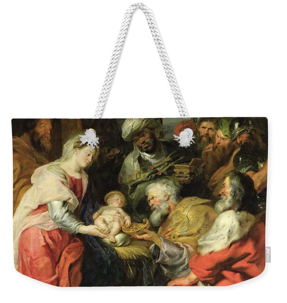 Adoration Of The Magi, 1626-29 Oil Canvas Weekender Tote Bag