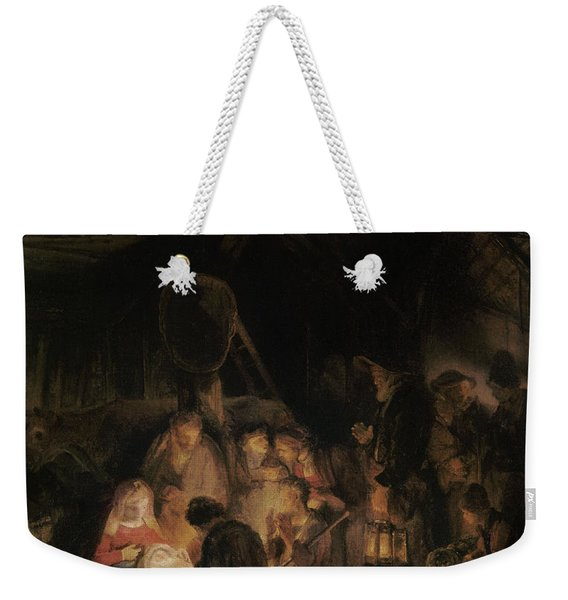 Adoration Of The Shepherds, 1646 Oil On Canvas Weekender Tote Bag