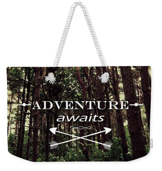 Adventure Awaits Weekender Tote Bag