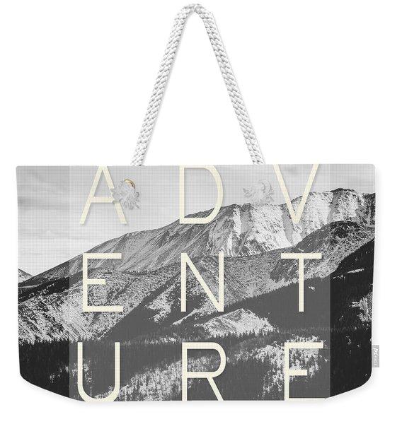 Adventure Typography Weekender Tote Bag