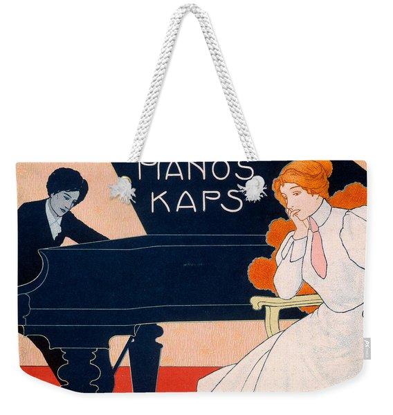 Advertisement For Kaps Pianos Weekender Tote Bag