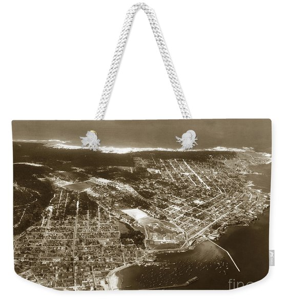 Aerial  Of Monterey Calif. Oct. 25 1934 Weekender Tote Bag