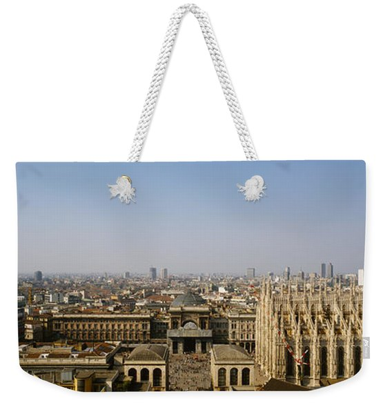 Aerial View Of A Cathedral In A City Weekender Tote Bag