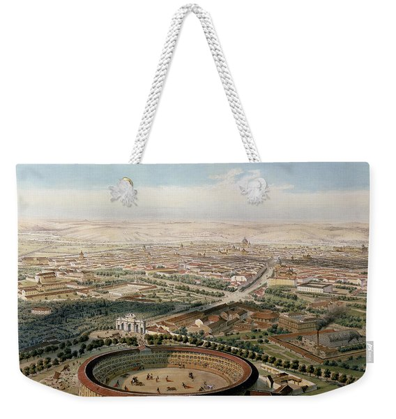 Aerial View Of Madrid From The Plaza De Toros Weekender Tote Bag