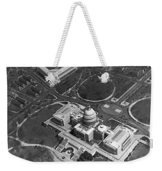 Aerial View Of U.s. Capitol Weekender Tote Bag