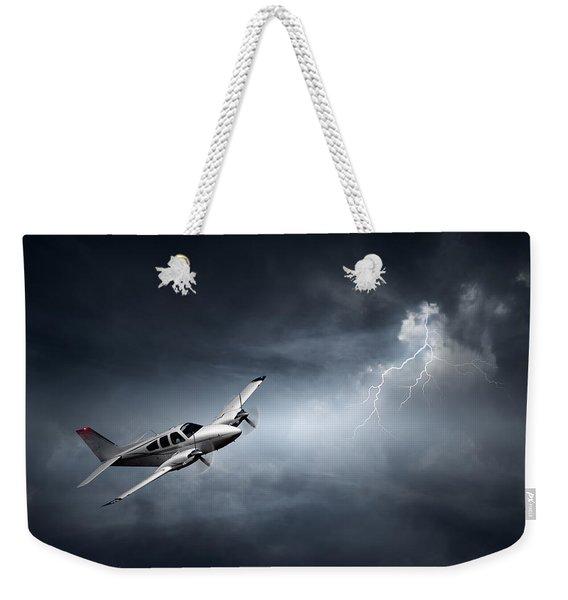 Risk - Aeroplane In Thunderstorm Weekender Tote Bag