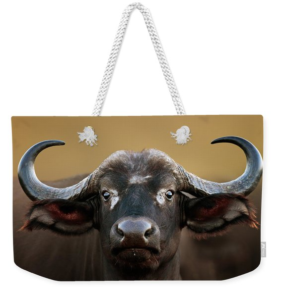 African Buffalo Cow Portrait Weekender Tote Bag