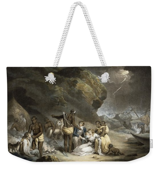 African Hospitality, Engraved By John Raphael Smith, 1791 Mezzotint Weekender Tote Bag