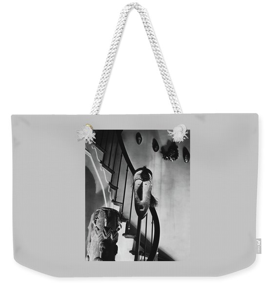 African Masks And Drums In Eugene O'neill's Weekender Tote Bag