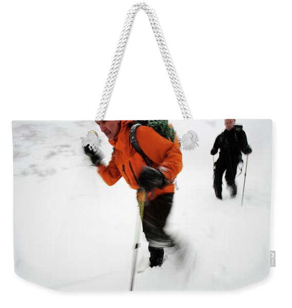 After An Afternoon Of Ice Climbing, Two Weekender Tote Bag