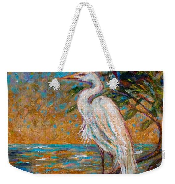 Afternoon Egret Weekender Tote Bag