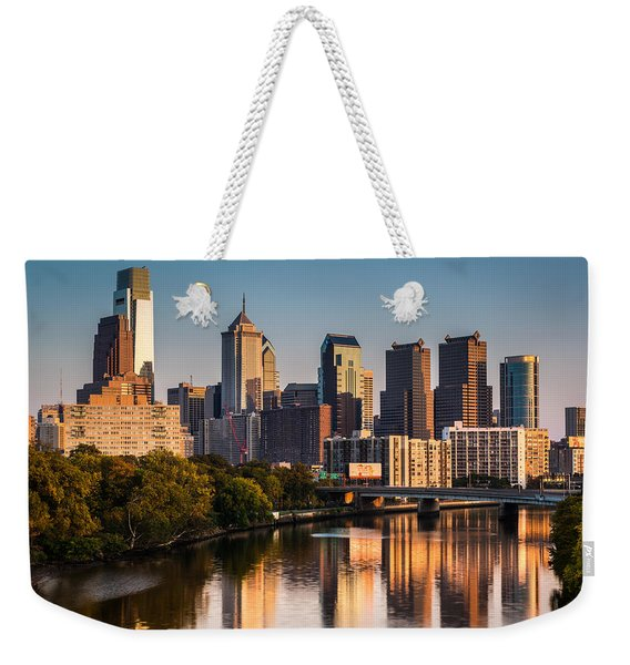 Weekender Tote Bag featuring the photograph Afternoon In Philly by Mihai Andritoiu